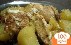Фото рецепта: «Курица с картофелем в фольге»