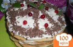 Фото рецепта: «Тортик к чаю на сковороде с цельнозерновой мукой»