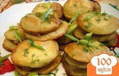 Фото рецепта: «Картофель запеченный с салом по-украински»