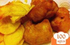 Фото рецепта: «Жареная рыба с чипсами»