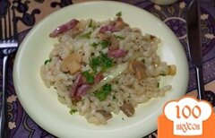 Фото рецепта: «Паста с шашлычными колбасками и грибочками»
