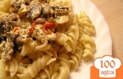 Фото рецепта: «Паста с грибным соусом»