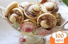 """Фото рецепта: «Печенье """"Шампиньоны""""»"""