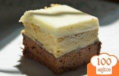 Фото рецепта: «Экспрессо брауни чизкейк»