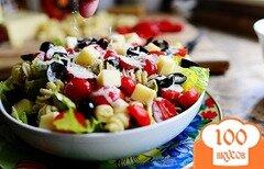 Фото рецепта: «Салат с макаронами и помидорами»