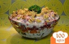 Фото рецепта: «Салат слоеный с черносливом»