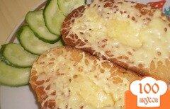 """Фото рецепта: «Жареный хлеб """"На завтрак""""»"""