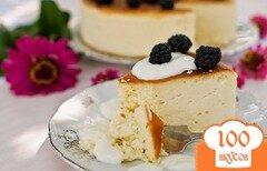 Фото рецепта: «Сырный пирог с белым шоколадом»