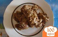 Фото рецепта: «Куриная печень с горчицой и сметаной»