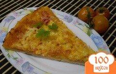 Фото рецепта: «Пицца с колбасой и брынзой»