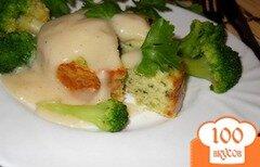 Фото рецепта: «Рыбный пудинг со шпинатом»