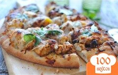Фото рецепта: «Простая острая пицца на лепешке»