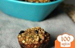 Фото рецепта: «Овсяные кексы с черникой и цуккини»