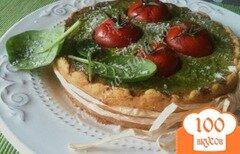 Фото рецепта: «Пирог с начинкой из шпината с тунцом»