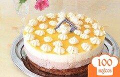 Фото рецепта: «мангово-банановый торт-мусс»