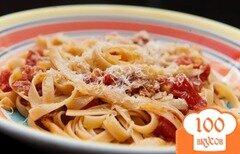 Фото рецепта: «Паста с ветчиной и помидорами»