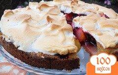 Фото рецепта: «Пирог с грушами и вишней»