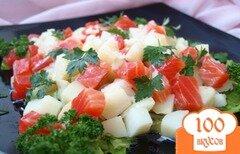 Фото рецепта: «Салат с сёмгой и картофелем»