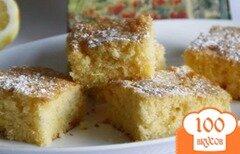 """Фото рецепта: «Лимоный пирог """"Простейший и самый вкуснейший""""»"""