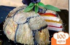 Фото рецепта: «Террин из запеченных перцев, баклажанов и брынзы»