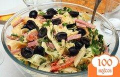 Фото рецепта: «Итальянский салат с макаронами и сыром»