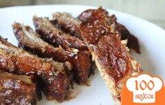 Фото рецепта: «Свиные ребрышки на сковороде»