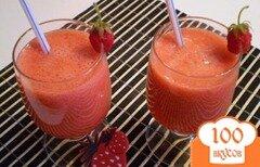 Фото рецепта: «Клубничный сок с мякотью»