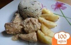 Фото рецепта: «Куриное филе в лимонном соусе с яблоками»