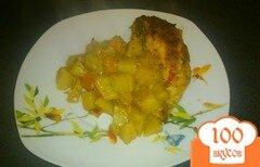 Фото рецепта: «Курица с картофелем под тройным соусом»