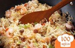Фото рецепта: «Рис с овощами, фенхелем и креветками»