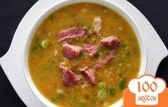 Фото рецепта: «Суп гороховый с копчеными ребрышками»