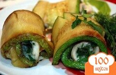 Фото рецепта: «Рулетики из кабачков с сыром»
