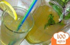"""Фото рецепта: «Лимонно-мятный напиток """"Свежесть""""»"""