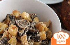 Фото рецепта: «Опята с картошкой в сметане»
