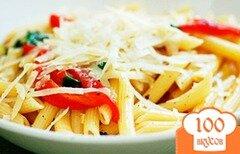 Фото рецепта: «Паста с печеным перцем и базиликом»