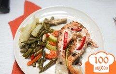 Фото рецепта: «Семга с овощами»