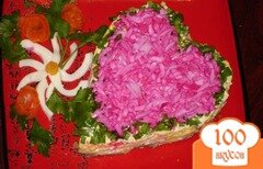 Фото рецепта: «Салат к дню Святого Валентина»