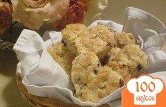 Фото рецепта: «Печенье в форме сердца с шоколадом»