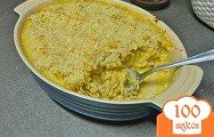 Фото рецепта: «Запеканка из макарон с мускатной тыквой и сыром»