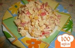 Фото рецепта: «Салат с крабовым мясом и болгарским перцем»
