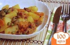 Фото рецепта: «Мясное рагу с картофелем и зеленым горошком по-тирольски»