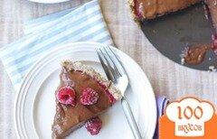 Фото рецепта: «Малиново-шоколадный тарт»