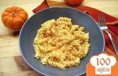 Фото рецепта: «Паста в тыквенно-сырном соусе»