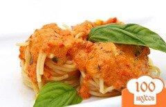 Фото рецепта: «Паста с томатно-базиликовым соусом»