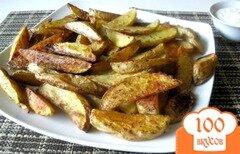 Фото рецепта: «Запеченный картофель ломтиками»
