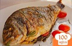 Фото рецепта: «Дорада запеченная в духовке с розмарином»