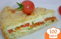 Фото рецепта: «Пирог с овощами и брынзой»