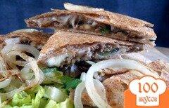 Фото рецепта: «Кесадилья с говядиной и копченым сыром»