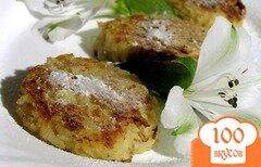 Фото рецепта: «Лимонно-яблочные оладьи без муки и сахара»