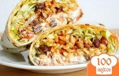 Фото рецепта: «Бурритос с фасолью и рисом»